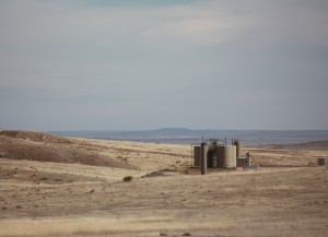 A gas well on the Pawnee National Grasslands.