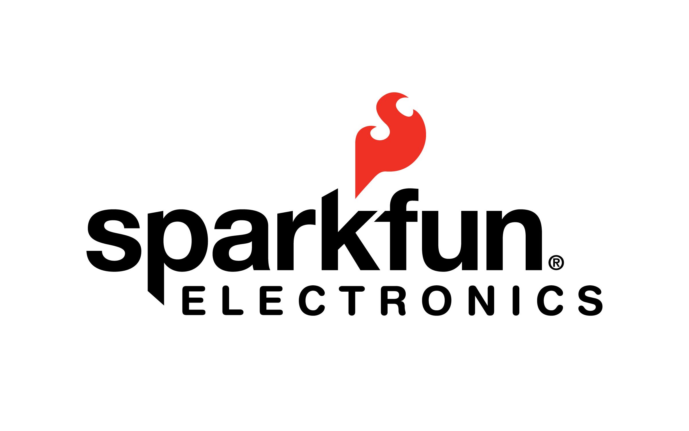 Black text with white background sparkfun logo